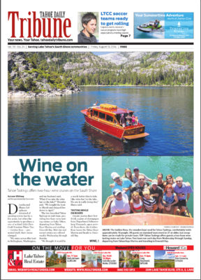 Tahoe Tastings Front Page Article Tahoe Daily Tribune