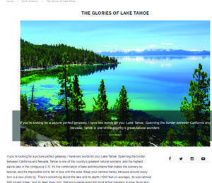 Passport Magazine The Glories of Lake Tahoe by Rich Rubin