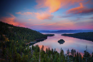 Emerald Bay Sunset over Lake Tahoe