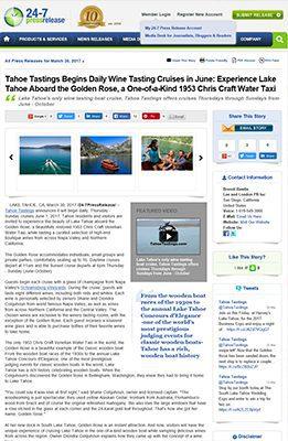 Tahoe Tastings Press Release March 30 2017